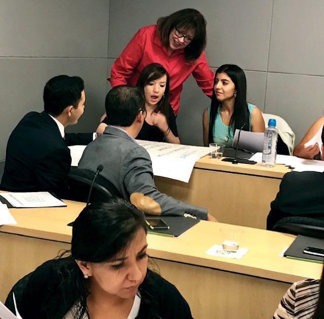 Debbie teaching at a workshop